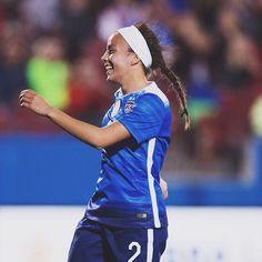 OTD 1 year ago, this one scored her first international goal... #MalPugh
