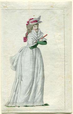 Journal de la Mode et du Goût, 20 juillet 1792, 15e cahier, pl. 2, M. Le Brun, 1792