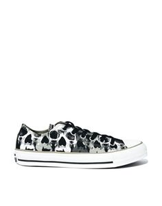Converse Chuck Taylor All Star Skull Print Lo Top Trainers