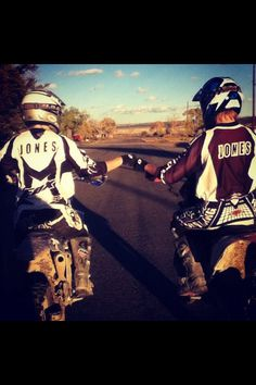 Brother  Sister bonding! Fam that rides together, stays together.