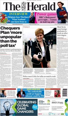 Herald ( Tuesday September 4 2018) #news #newspaper Poll Tax, Herald News, September, Newspaper Article, Do It Right, Tuesday, Hold On, Interview, Articles