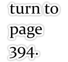 Turn to page 394 Sticker