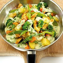 Poultry pan with vegetables Weight watchers rezepte calorie dinner calorie food calorie recipes Salad Recipes No Meat, Salad Recipes For Parties, Salad Recipes For Dinner, Potluck Recipes, Avocado Recipes, Vegetable Recipes, Pasta Recipes, Vegetarian Recipes, Chicken Recipes