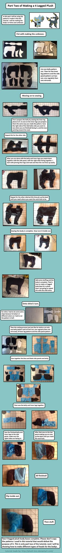 4 legged plush tutorial part 2 by Plush-Lore.deviantart.com on @DeviantArt