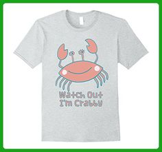 Mens Watch Out I'm Crabby Funny Graphic Crab T-Shirt Small Heather Grey - Animal shirts (*Amazon Partner-Link)