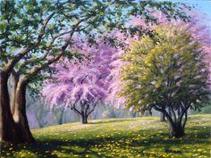 Rick Hansen (b.1958) — Crab Apple Trees (900x676)