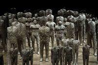 Crowd and Individual, Island San Giorgio Maggiore, realized by Fondazione Giorgio Cini by Magdalena Abakanowicz
