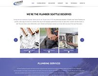 Fischer Plumbing One Page Website Design