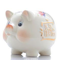 Ceramic piggy bank, piggy, creative gift decoration, lovely, felicitous wish of making money ~ //Price: $15.95 & FREE Shipping //     #hashtag2 Money Jars, Sweet Style, Chinese Style, Creative Gifts, Holiday Gifts, Birthday Gifts, How To Make Money, How To Memorize Things, Ceramics