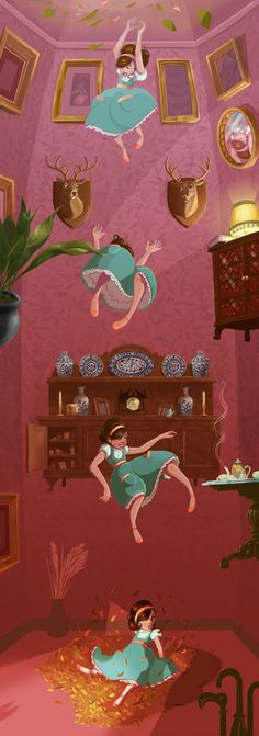 Alice in Wonderland by Roland MacDonald, via Behance