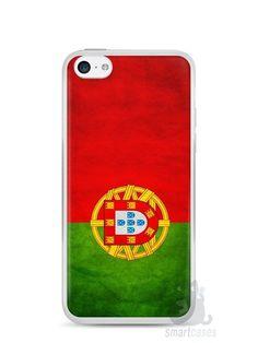 Capa Iphone 5C Bandeira de Portugal - SmartCases - Acessórios para celulares e tablets :)