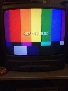 Not mine #tv #aesthetic #rainbow
