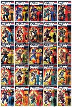 GI Joe: A Real American Hero action figures Gi Joe, Retro Toys, Vintage Toys, 1980s Toys, Childhood Toys, Childhood Memories, Cartoon Toys, Classic Toys, Old Toys
