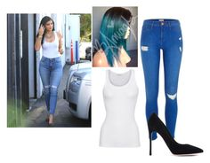 """""""Kylie J."""" by futurewwedivaschampion23 ❤ liked on Polyvore featuring 7 For All Mankind, American Vintage, River Island and Gianvito Rossi"""