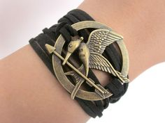 Hunger Games Bracelet  Mockingjay by FantasyDesigns1 on Etsy, $6.00