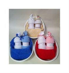 Baby gift Nappy Babies in a basket containing 3 size 1 nappies , 2 pairs of socks 1 washcloth. All Gifts, Shower Ideas, Recycling, Baby Shoes, Basket, Socks, Pairs, Baby Boy Shoes, Sock