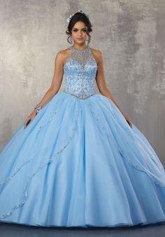 4fb386219 50 mejores imágenes de vestidos de 15 color azul