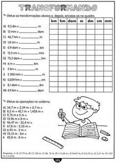 Atividades com Medidas de Comprimento Matemática 4 Ano.   Aprender e Brincar