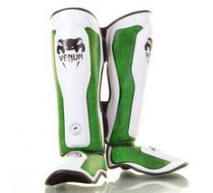 """Venum """"Green Viper"""" Standup Shinguards - MMA Striking Shin Guards - Skintex leather (M) by Venum. $99.90. The """"Gren Viper"""" shin guards are no less than the best looking coupled to one of the best protection of the market and Top of the art quality! Technical caracteristics : ?Hand Made in Thailand. ?100% Premium Synthetic Leather & Buffalo Leather. ?Velcro Enclosure. ?High density foam with additional padding across the shin and instep. ?Lightweight. ?Embossed ..."""