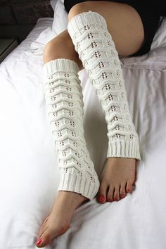 White womens boot socks wool knit socks long leg by SeanGrocery, $9.99 LOVE it #UGG #fashion This is my dream ugg boots-fashion ugg boots! http://uggshoppingonline.blogspot.com/