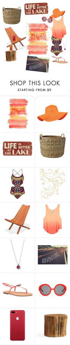 """""""we be chillin"""" by dfaudi on Polyvore featuring Accessorize, Serena & Lily, Mara Hoffman, WALL, Dot & Bo, Ippolita, Kess InHouse, Wet Seal, Preen and Pottery Barn"""