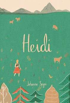 A digital giclee print of an original illustration inspired by the story of Heidi by Johanna Spyri.  Printed on Ultra smooth fine art paper using