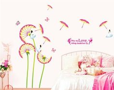OneHouse May My Love Riding Dandelion Fly Quote Dandelion with Umbrella DIY Wall Decal Girls' Room Decor OneHouse http://www.amazon.com/dp/B00KE13WLO/ref=cm_sw_r_pi_dp_XtjXub0E63BNQ