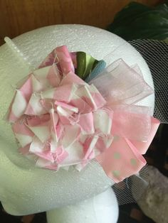 Shabby Chic fascinator by DaintylaceDesign on Etsy
