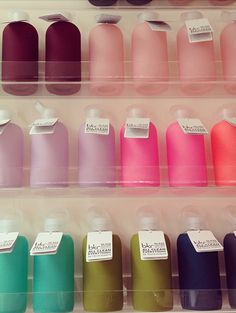BKR water bottles in pretty colours (yoga, palette) - Love mine!