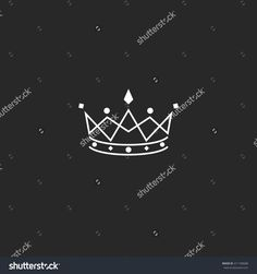 Royal symbol icon, monogram crown logo, beauty tiara princess, medieval king coronation emblem