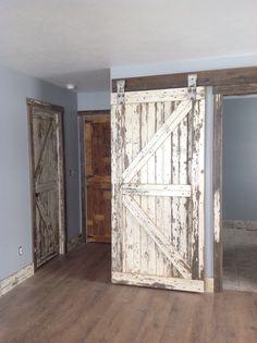 Open Barn Door half open barn door, stable door. reclaimed repurposed barn doors
