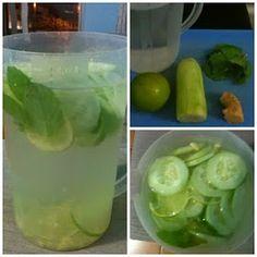 PcD : Água de limão, pepino e gengibre reduz peso e barriga em poucos dias