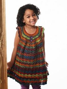 FREE crochet Pattern  for Girls - grils tunic