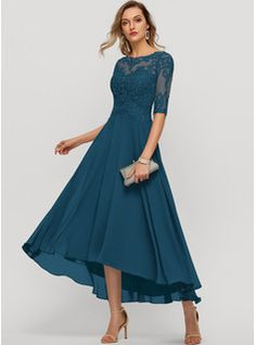 Evening Dresses With Sleeves, Chiffon Evening Dresses, Mother Of The Bride Plus Size, Wedding Frocks, Mother Of Groom Dresses, Custom Dresses, Knee Length Dresses, Fashion Dresses, Swatch