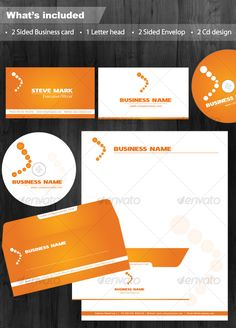 Clean Executive White & Orange Corporate Identity
