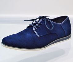 c8534605fd9 Calvin Klein Kadon Dark Blue Navy Mens Suede Oxfords Shoes Size 9.5