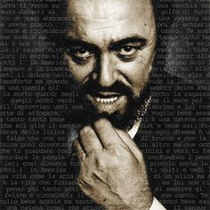 Luciano Pavarotti Painting. #art, #pop, #singing, #music, #singer, #portrait. Prints start at $22.00