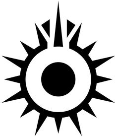 Black Sun - Wookieepedia, the Star Wars Wiki Cool Symbols, Magic Symbols, Tatoo Geek, Black Sun Tattoo, Body Art Tattoos, Tribal Tattoos, Arte Ninja, Tattoo Henna, Star Wars Rpg