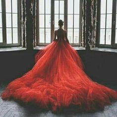 Rosso tulle e romantico