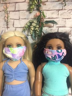 Face Mask for American Girl or My Twinn Dolls   Etsy Unicorn Outfit, Bear Face, Butterfly Kisses, To My Mother, Coordinating Fabrics, Girl Dolls, American Girl, Pattern, Handmade