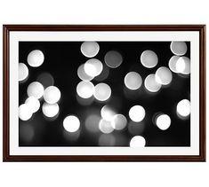 "Winter Glitter Framed Print by Lupen Grainne, 42 x 28"", Ridged Distressed Frame, Espresso, Mat"