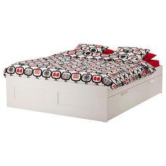 BRIMNES Σκελετός κρεβατιού με δοκό στήριξης - IKEA