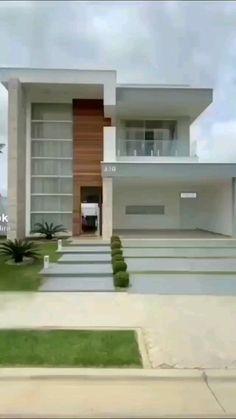 Minimal House Design, Modern Small House Design, Modern Exterior House Designs, Dream House Exterior, Exterior Design, Simple House Design, Exterior Colors, House Arch Design, Home Building Design