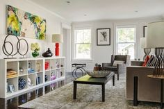 High-style EXPEDIT in a living room, plus lots of other ideas for how to style these versatile shelves.