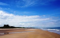 Bamburgh Castle and beach on the stunning Northumberland coast :)