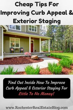 Cheap Tips For Improving Curb Appeal  - http://www.rochesterrealestateblog.com/cheap-tips-staging-a-home-on-a-budget/ via @KyleHiscockRE