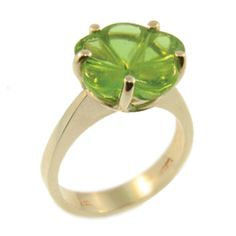 Yellow Gold & Green Tourmaline Flower Ring, handmade by Sam Drummond at Cameron Jewellery Green Tourmaline, Heart Ring, Jewellery, Gemstones, Yellow, Winter, Rings, Flowers, Gold