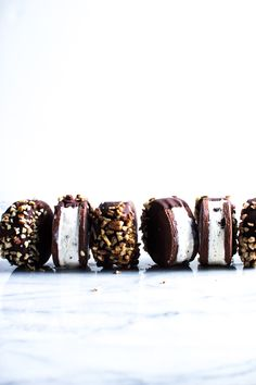 Chocolate Dipped Ice Cream Sandwich Cookies