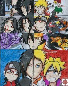 Naruto and Sasuke - Naruto/Naruto Shippuden/Boruto:Naruto Next Generations Naruto Shippuden Anime, Naruto Drawings, Naruto Vs Sasuke, Anime Comics, Naruto Characters, Anime, Anime Drawings, Naruto Pictures, Manga