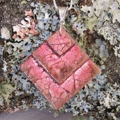 "Egg Shell Pendant Mosaic Pendant Handmade by LallyBrochFarm, $25.00 ""Reflection"""